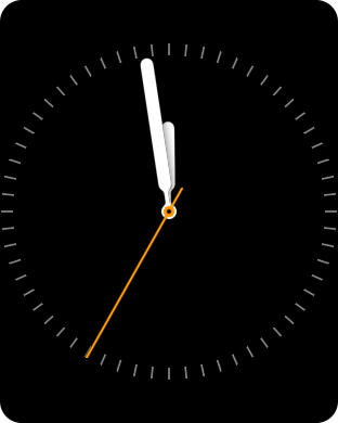 Simple watch face on the Apple Watch